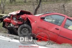 Două persoane rănite în urma unui accident de circulație petrecut pe raza municipiului Gherla