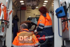 Accident pe strada Regina Maria din Dej. O femeie a ajuns la spital