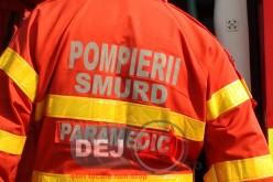 S-a răsturnat cu mașina în afara părții carosabile, în comuna Mociu