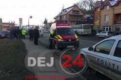 Accident la ieșire din Dej, pe strada 1 Mai – GALERIE FOTO