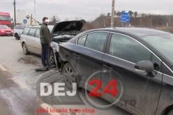 Accident pe strada Libertății din Dej – FOTO