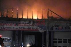 Incendiu Ciceu Mihăiești. Flăcări înalte de peste 10 metri, intervenție de 4 ore – VIDEO