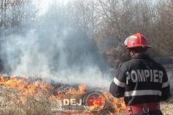 Incendiu de pădure în Sântejude-Vale. Intervin pompierii din Dej