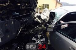 Accident cu o victimă încarcerată, în localitatea Cristeștii Ciceului – FOTO/VIDEO