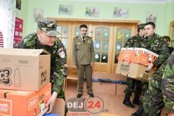 """Comandantul Garnizoanei Dej, vizită cu daruri la """"MICUL PRINȚ"""" Gherla – FOTO"""