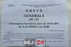 """GREVĂ GENERALĂ la Primăria Dej. Se lucrează totuși la SPCLEP pe """"cotă de avarie"""""""