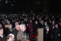 Mii de credincioși din Dej au participat la slujba de Înviere. Hristos a Înviat! – FOTO/VIDEO