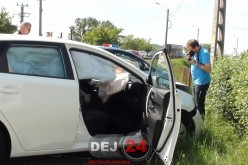 Accident pe strada Libertății din Dej. Un pieton a fost accidentat, două mașini implicate – FOTO/VIDEO