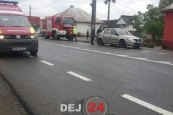 Accident de circulație în Reteag. Tânăr din Dej, implicat în evenimentul rutier – FOTO