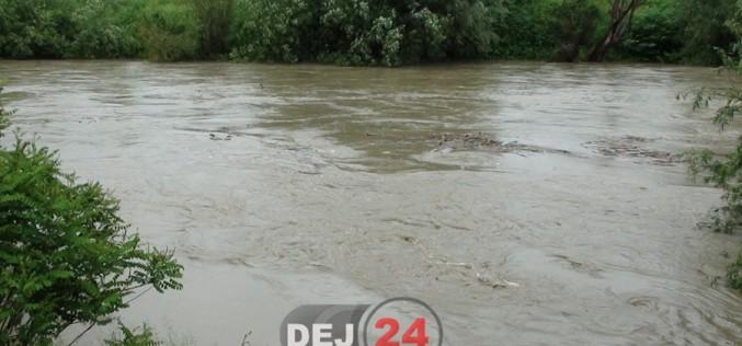 INHGA: COD GALBEN de inundații pe Someș, în aval de municipiul Dej