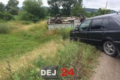 Accident de circulație la ieșire din Dej spre Mănăstirea. Două autovehicule implicate – FOTO/VIDEO