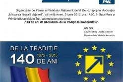 """""""140 de ani de liberalism – de la tradiție la modernitate"""", simpozion organizat de OFL Dej"""