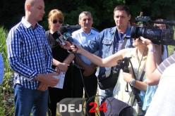 Mihai Seplecan în vizită la Dej. S-a predat amplasamentul depozitului de deșeuri – FOTO