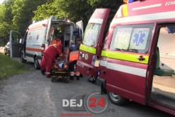 A accidentat un biciclist și a fugit. O ambulanță de la Dej a intervenit la caz – VIDEO