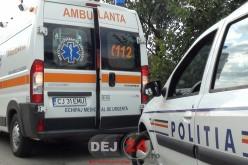 Accident în Dâmbu Mare. Un biciclist a ajuns la Spitalul Municipal Dej