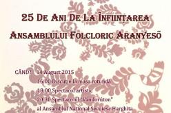 Spectacol aniversar la Dej. 25 de ani de la de la înființarea Ansamblului Folcloric Aranyeső