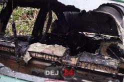 GRAV ACCIDENT în Dej. Și-a salvat soția ÎNSĂRCINATĂ înainte ca mașina să ia FOC – FOTO/VIDEO