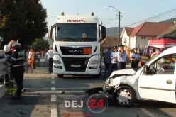 ACCIDENT în Urișor. PATRU persoane au ajuns la spitalul din Dej – FOTO/VIDEO