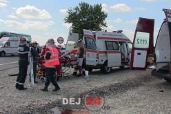 Bărbat din Dej, implicat în accident la Apahida. Trei autovehicule avariate