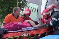 GRAV ACCIDENT la ieșire din Uriu spre Reteag. Patru VICTIME, una fiind ÎNCARCERATĂ – GALERIE FOTO