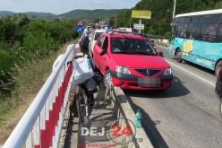 Biciclist RĂNIT în urma unui ACCIDENT petrecut la intrare în Dej – FOTO/VIDEO