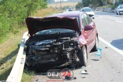 ACCIDENT cu 3 mașini implicate, pe varianta ocolitoare a orașului Gherla – FOTO/VIDEO