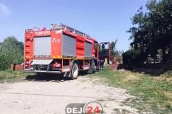 Pompierii din Dej au intervenit la un incendiu în Sântejude – FOTO
