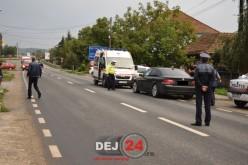 ACCIDENT în Dej. Pieton lovit de un autoturism – FOTO/VIDEO