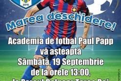 """Academia de Fotbal Paul Papp """"își deschide porțile"""" sâmbătă, la Dej"""