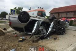 ACCIDENT la CÂȚCĂU. CINCI VICTIME transportate la Spitalul din Dej – FOTO/VIDEO