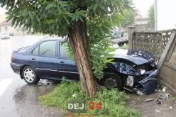 Accident între un autoturism și un taximetru, în Gherla – FOTO/VIDEO