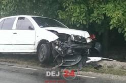 Un bărbat care azi se însoară, implicat într-un accident, în Cuzdrioara – FOTO