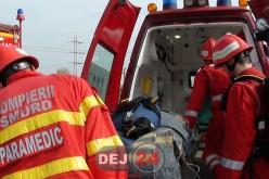 ACCIDENT la Jucu. O mașină a ajuns într-un cap de podeț – FOTO