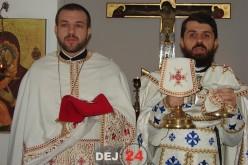 """Părintele Ieromonah Benedict Vesa, prezent la Dej. A slujit ieri în Parohia """"Sfântul Ierarh Nectarie"""" – FOTO"""
