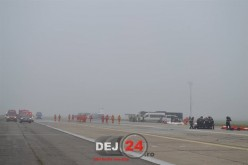 Simulare a unui accident aviatic pe Aeroportul Internațional Cluj-Napoca – FOTO