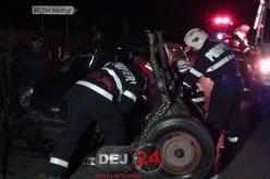 Accident în Dej. Căruță SPULBERATĂ de un autoturism, pe DN1C – FOTO/VIDEO