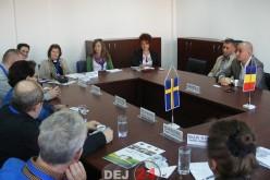Delegație suedeză la CJ Cluj. A participat și primarul din Gherla, Marius Sabo – FOTO