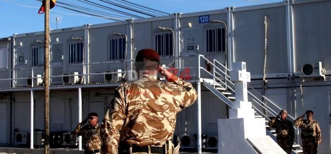 Tricolor coborât în bernă, în Afganistan. Citește mesajul militarilor din Dej – FOTO