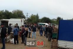 După ce D.S.V.S.A a închis târgul de animale, Primăria Municipiului Dej a început lucrările în zonă