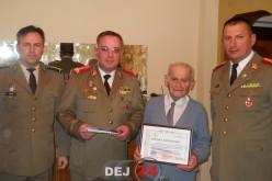 Colonelul (rtr.) Iosif Rus, celebrat de Batalionul 811 Infanterie Dej la împlinirea centenarului – FOTO
