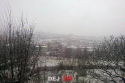 Primii fulgi de nea, din acest sezon, au căzut astăzi și la Dej – FOTO