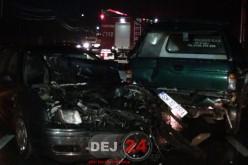 Accident în Bața. O mașină S-A FĂCUT PRAF, două persoane RĂNITE – FOTO/VIDEO