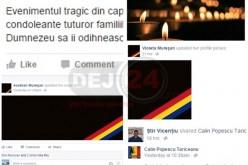 Oficialitățile din Dej, alături de familiile celor decedați în Capitală – FOTO