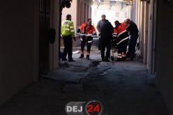 ACCIDENT în centrul municipiului Dej. O persoană a fost STRIVITĂ de o autoutilitară – FOTO/VIDEO