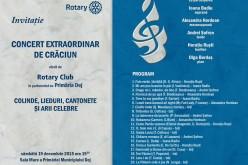 """Rotary Club Dej organizează """"Concert Extraordinar de Crăciun"""""""