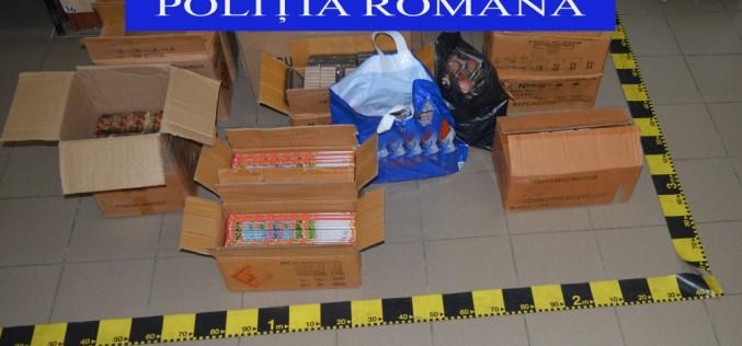 Mii de articole pirotehnice, confiscate de polițiștii din cadrul IPJ Cluj