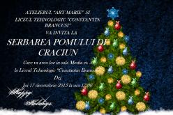 """""""Serbarea Pomului de Crăciun"""", la Liceul Tehnologic """"Constantin Brâncuși"""" Dej"""
