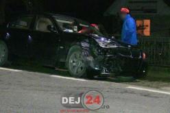 Accident cu două mașini implicate, în Câțcău. Una dintre ele a ajuns în șanț – FOTO