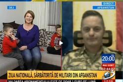 """EMOȚIONANT. Mesajul unui militar din Dej, plecat în Afganistan, către fiul său: """"Să fie mândru că este român"""" – VIDEO"""