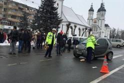 ACCIDENT – Pieton lovit de mașină, în Beclean. Victima, transportată la spital – FOTO